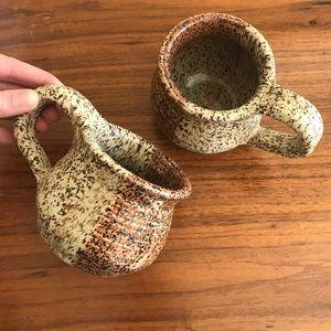 Vintage Handthrown ceramic coffee mugs, pottery